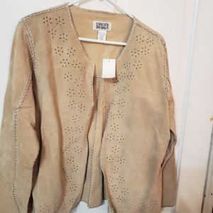 NWT Chico Designs size 2 leather jacket